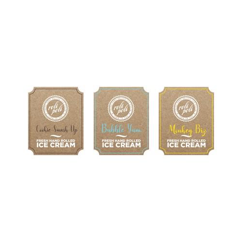 Ice Cream Jar label