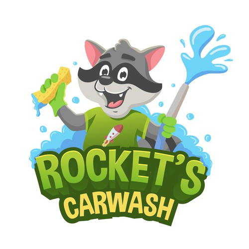 Rocket`s Carwash logo