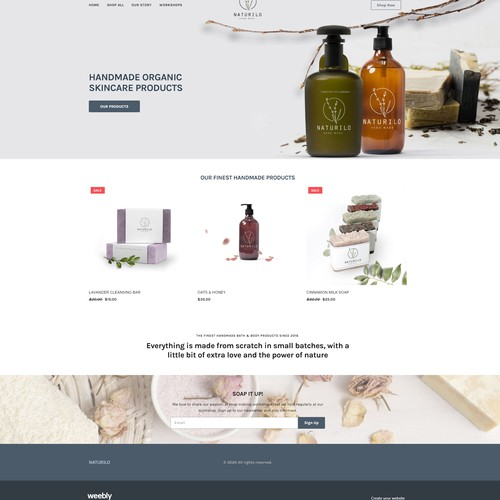 Ecommerce website for handmade goods, and craft supplies.