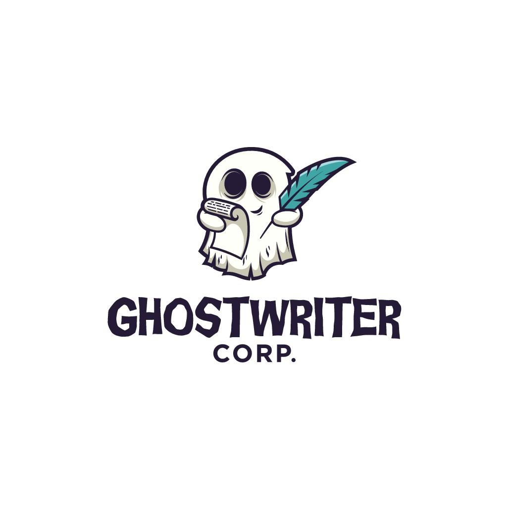 Design a phantasmal logo for Ghostwriter Corp.