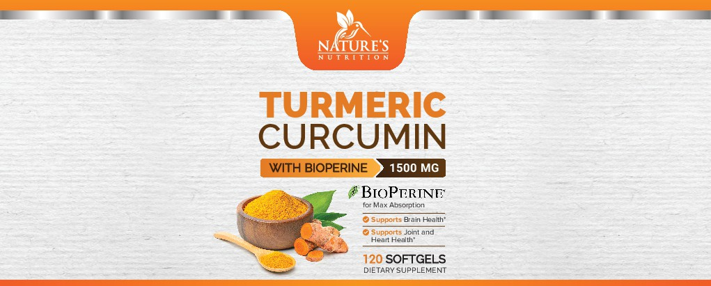 Nature's Nutrition - Needs a Colorful Turmeric Product Label