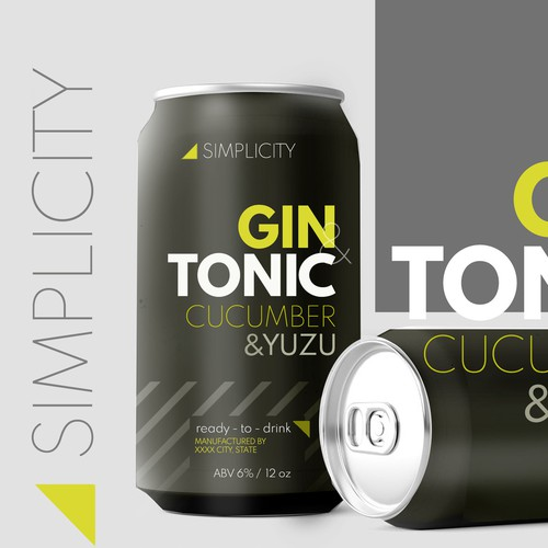 gin tonic can design
