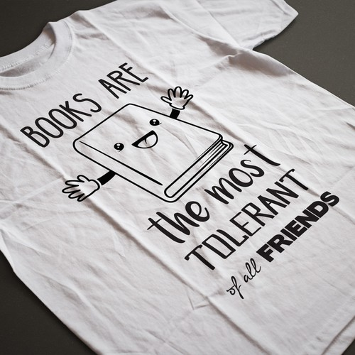 t-shirt design for Bookcase