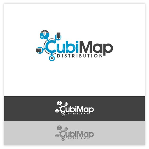 Logo Concept for CubiMap Distribution