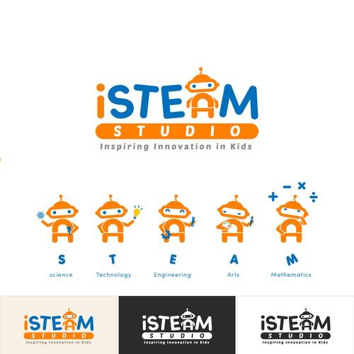 iSTEAM studio logo design