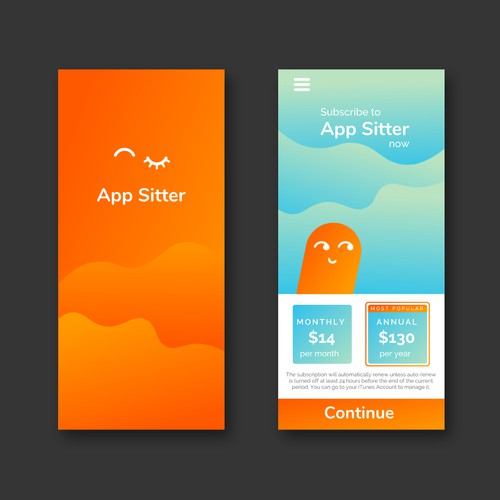 Friendly and simple design for a parental-screen control app