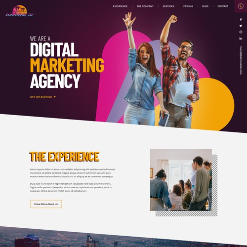 Home page design for Digital Marketing company