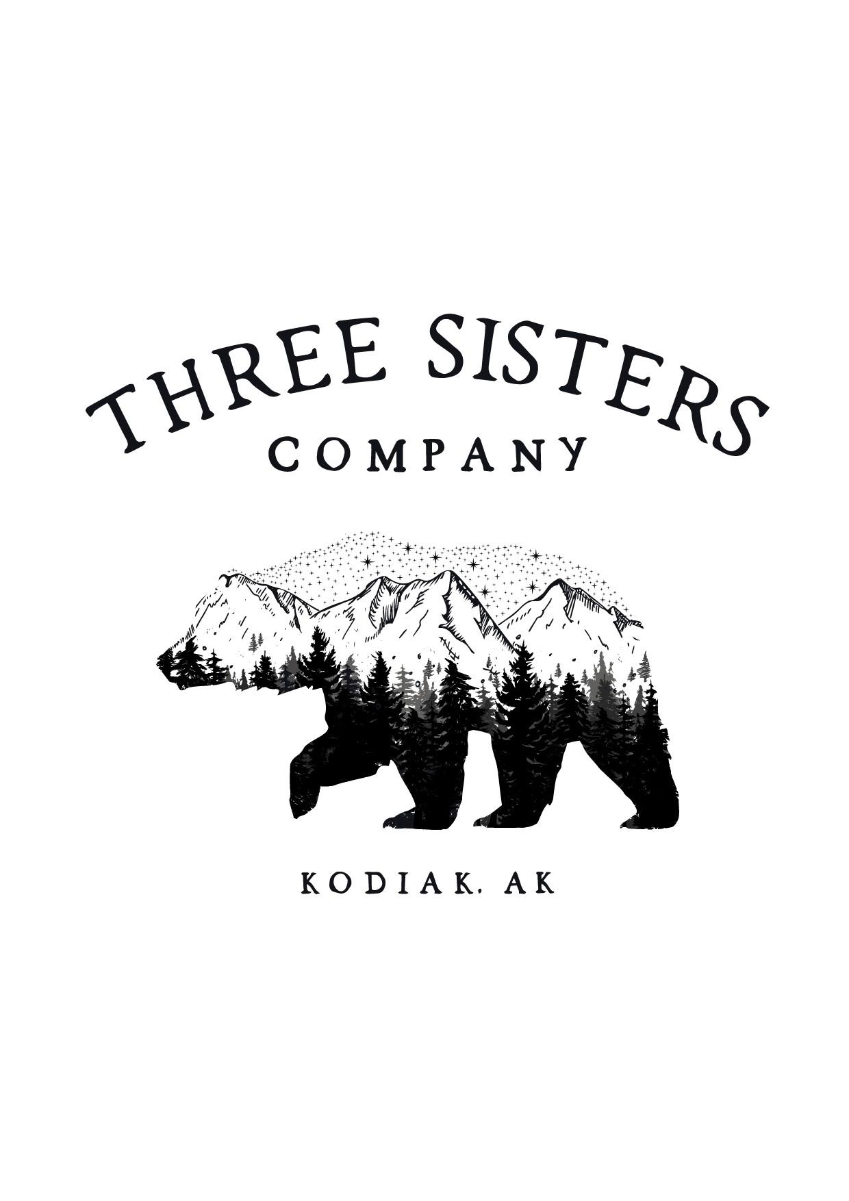 Bear outline with an Alaskan outdoors scene in the bear