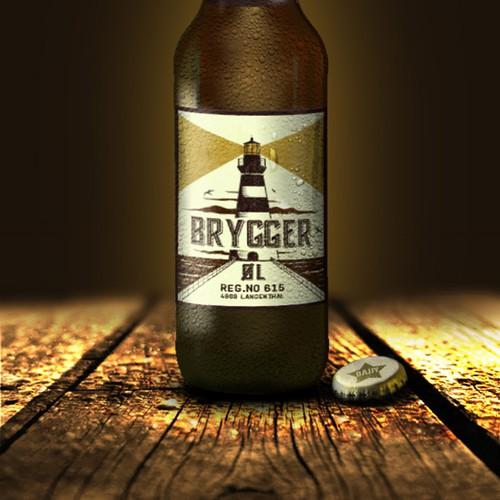Vintage looking bold label design for Brygger