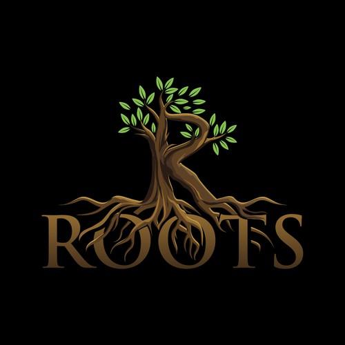 Vintage design for R Roots