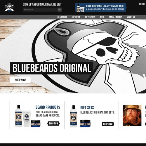 Homepage Design for Ecommerce Business - Men's Beard Product Company