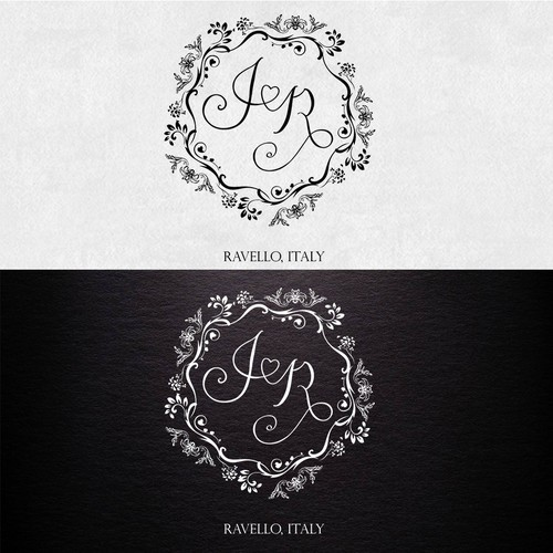 Logo conce[t for wedding invitation