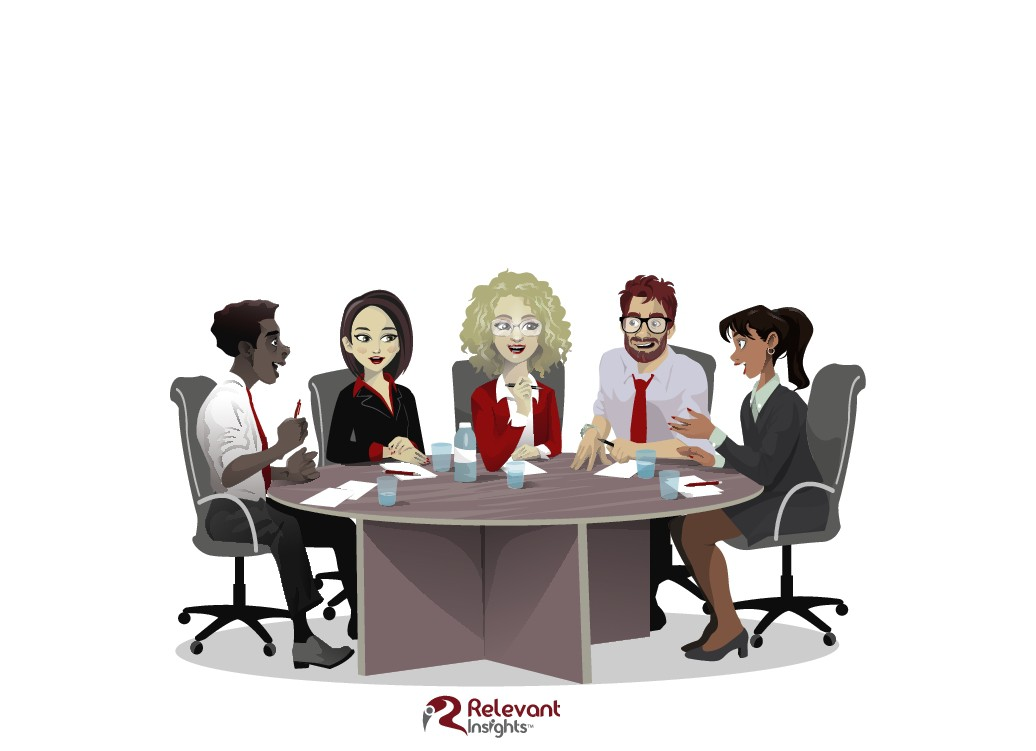 Design a Cool Market Research Meeting Cartoon for Relevant Insights