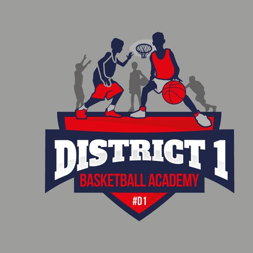 Logo for District One Basketball Academy