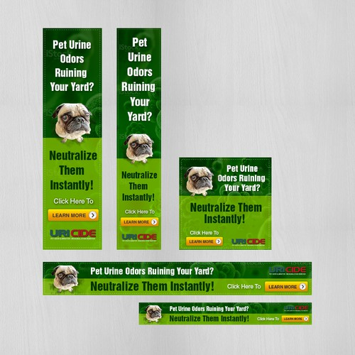 Google banners for pet product