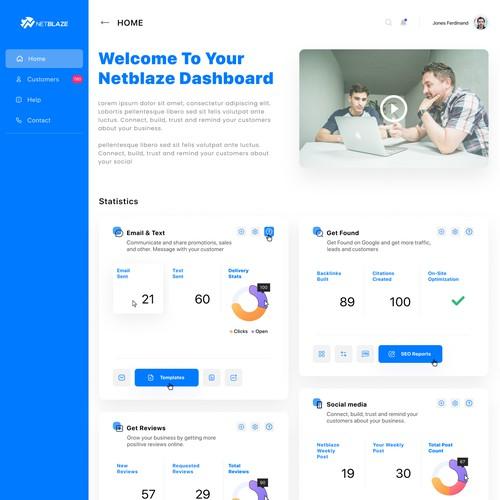 NetBlaze Dashboard Design