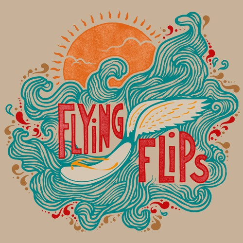 A dope t-shirt design wanted for FlyingFlips.com