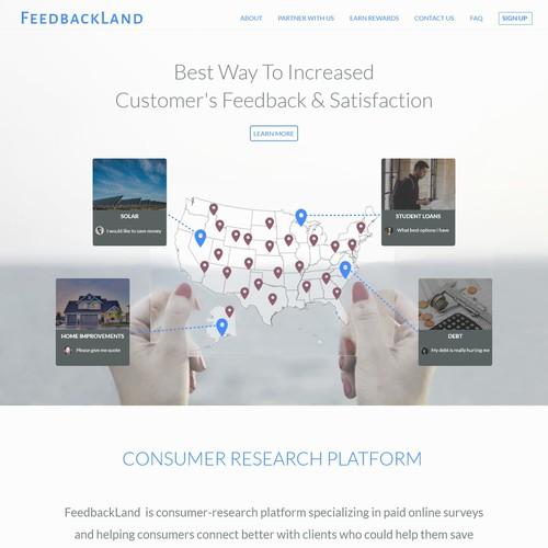 Feedbackland Web Design
