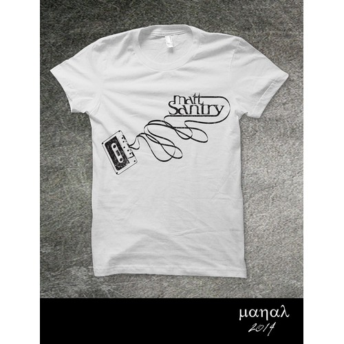 Simple & fun t-shirt design for a Singer Songwriter