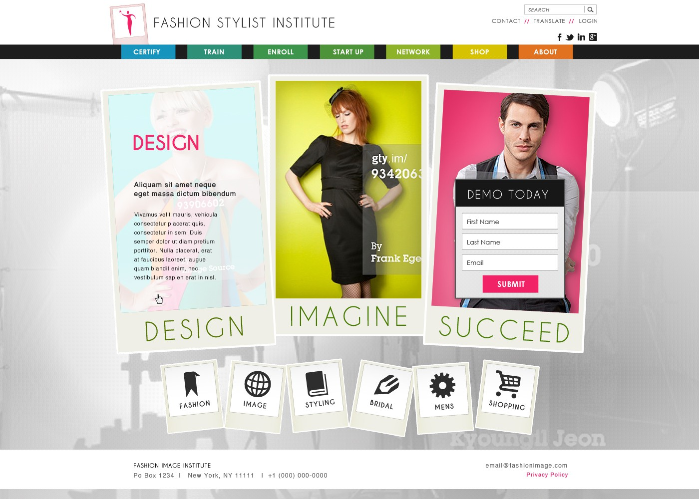 Help Fashion Image Institute with a new website design
