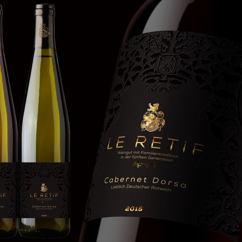 Wine label concept