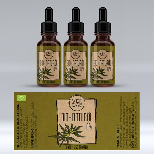 Label design for Bio-Naturol hemp oil