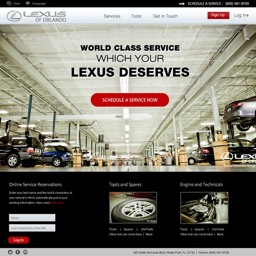 Website Design for Lexus of Orlando
