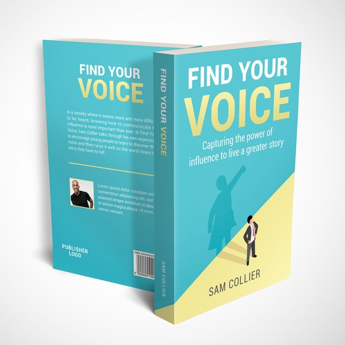 Book Cover Design for Find Your Voice by Sam Collier