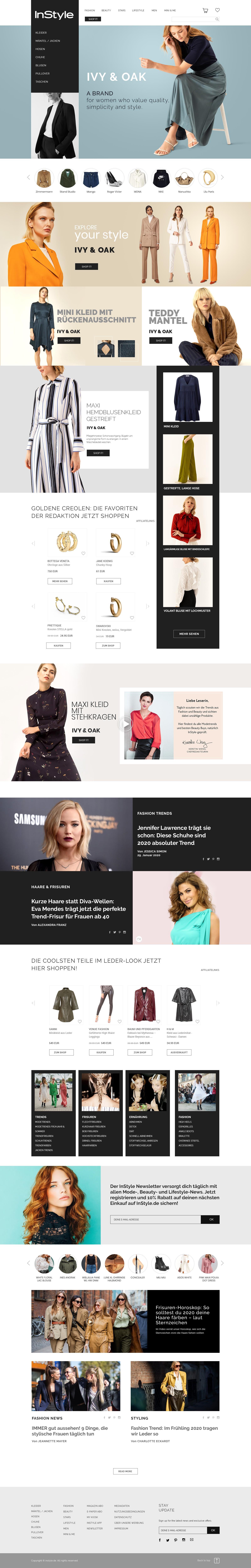 Brand Experience: Markenwelt für Fashion Brands auf InStyle.de