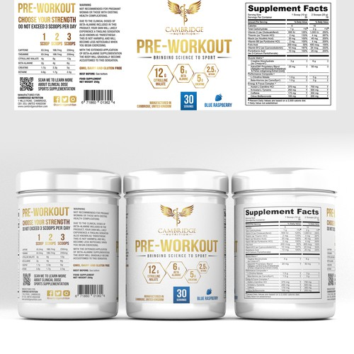 Minimalistic design for dietary supplement