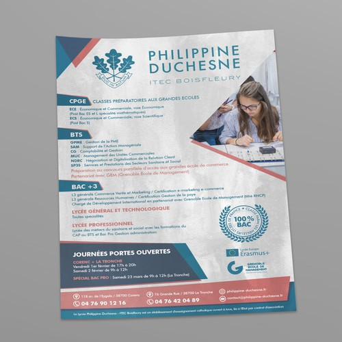 Poster for a French highschool.