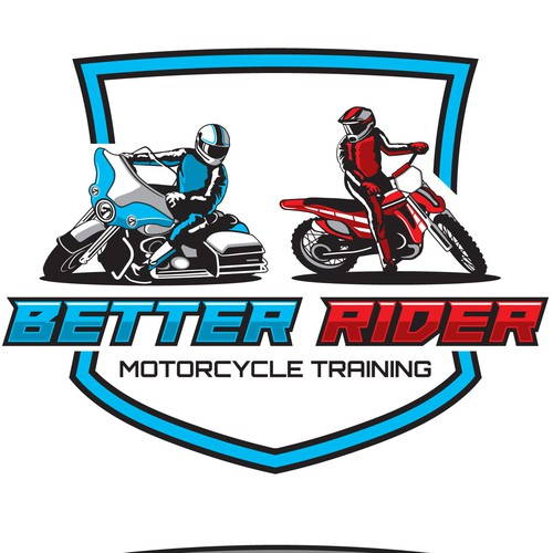 safety riding logo for a riding school