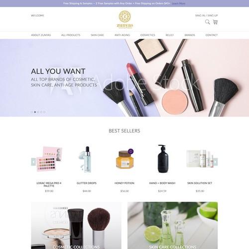 Online Beauty Product shop website design