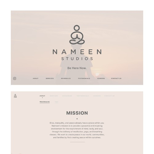 Yoga Studio Web Design