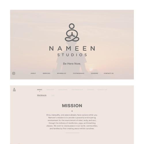 Yoga Studio Web Design