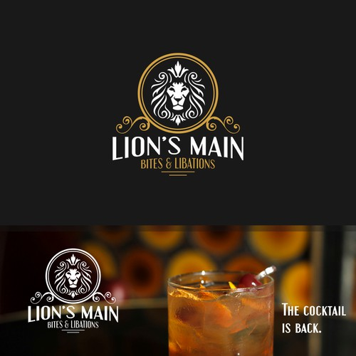 Logo for new Craft Cocktail Lounge/Restaurant - Lion's Main