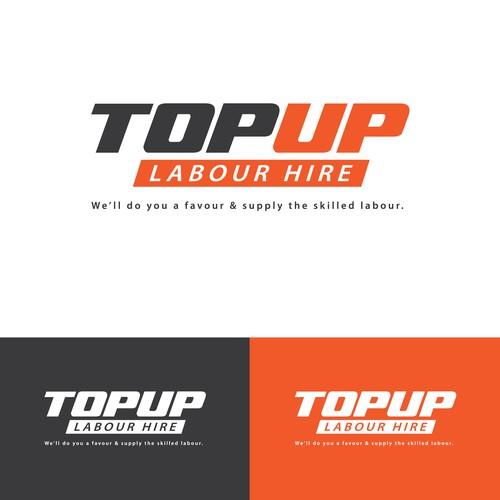 Top Up Labour Hire Logo Design