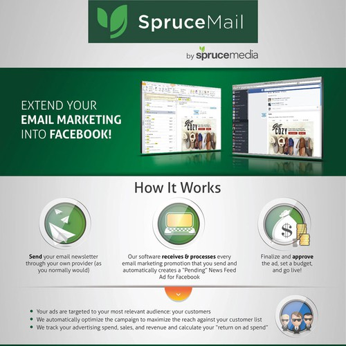 Create a 1-Pager for an Email Marketing + Facebook Advertising Company