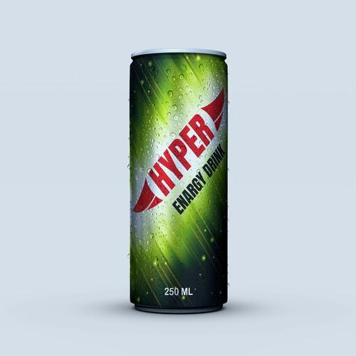 Energy drink brand label design