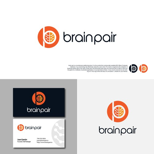 Brain pair logo concept