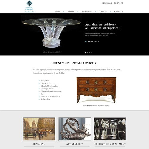 Cheney Appraisal Services Homepage design