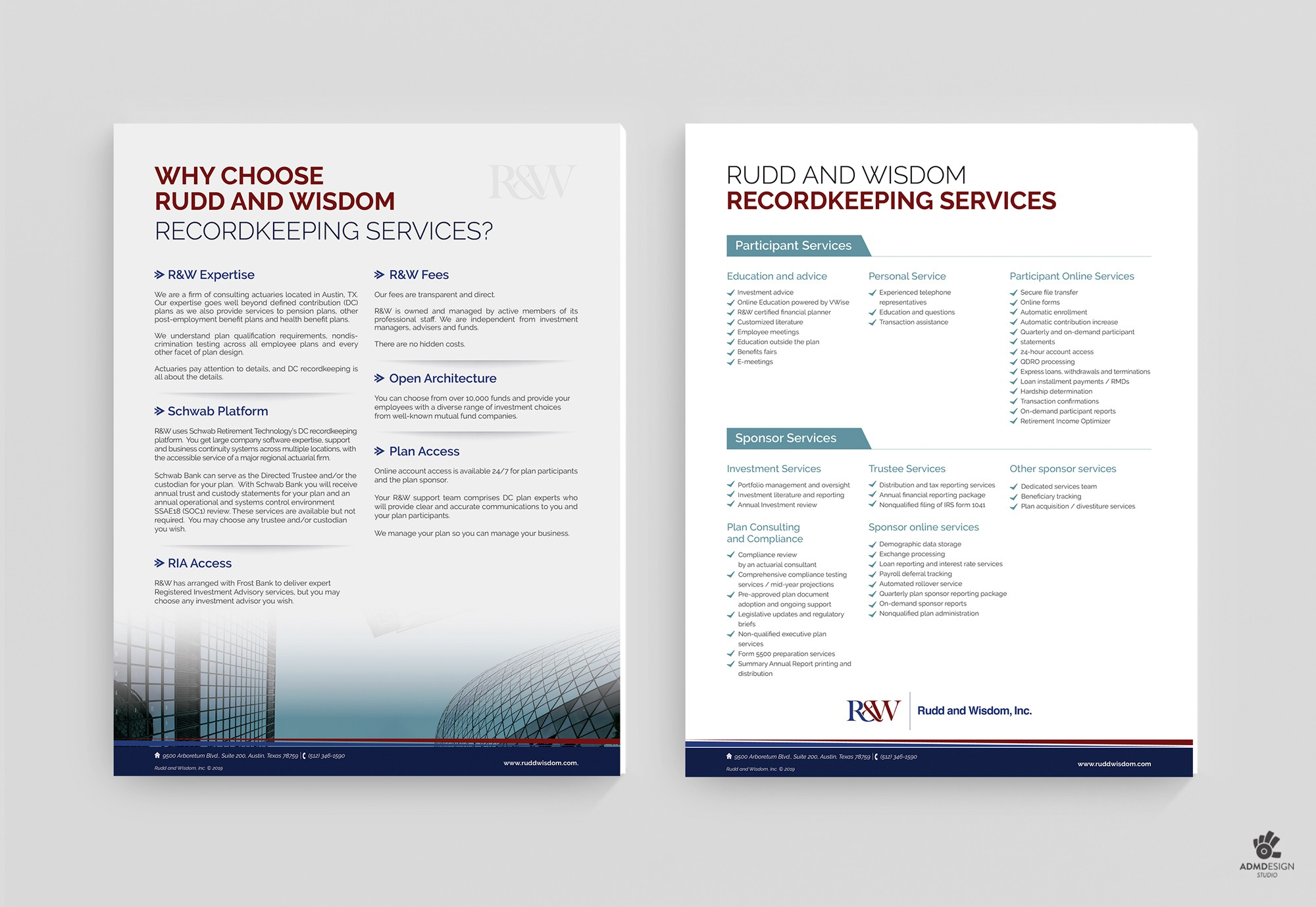 Brochure for firm of actuaries