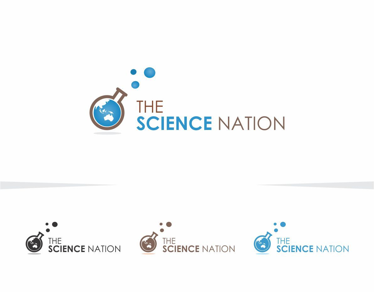 Create an attractive logo for a new public events series called The Science Nation