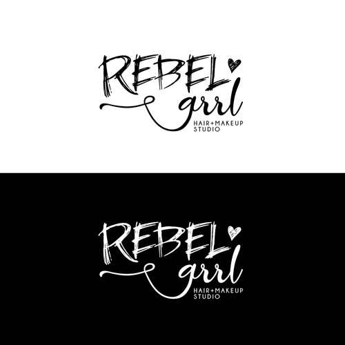 """""""Edgy"""" font for a Hair & Makeup Studio"""