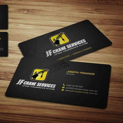 Business cards for JF Crane Services