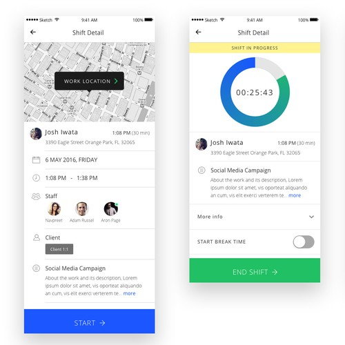 Shiftcare App