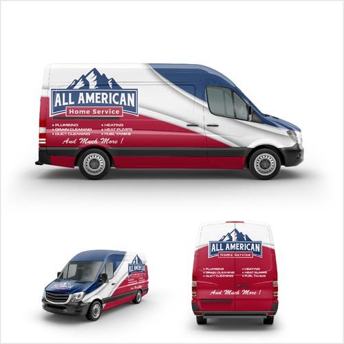 All American Home service Car branding
