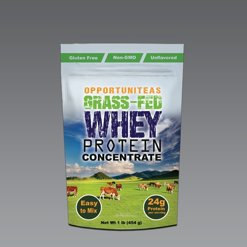 Design Pouch for Grass-Fed Whey Protein