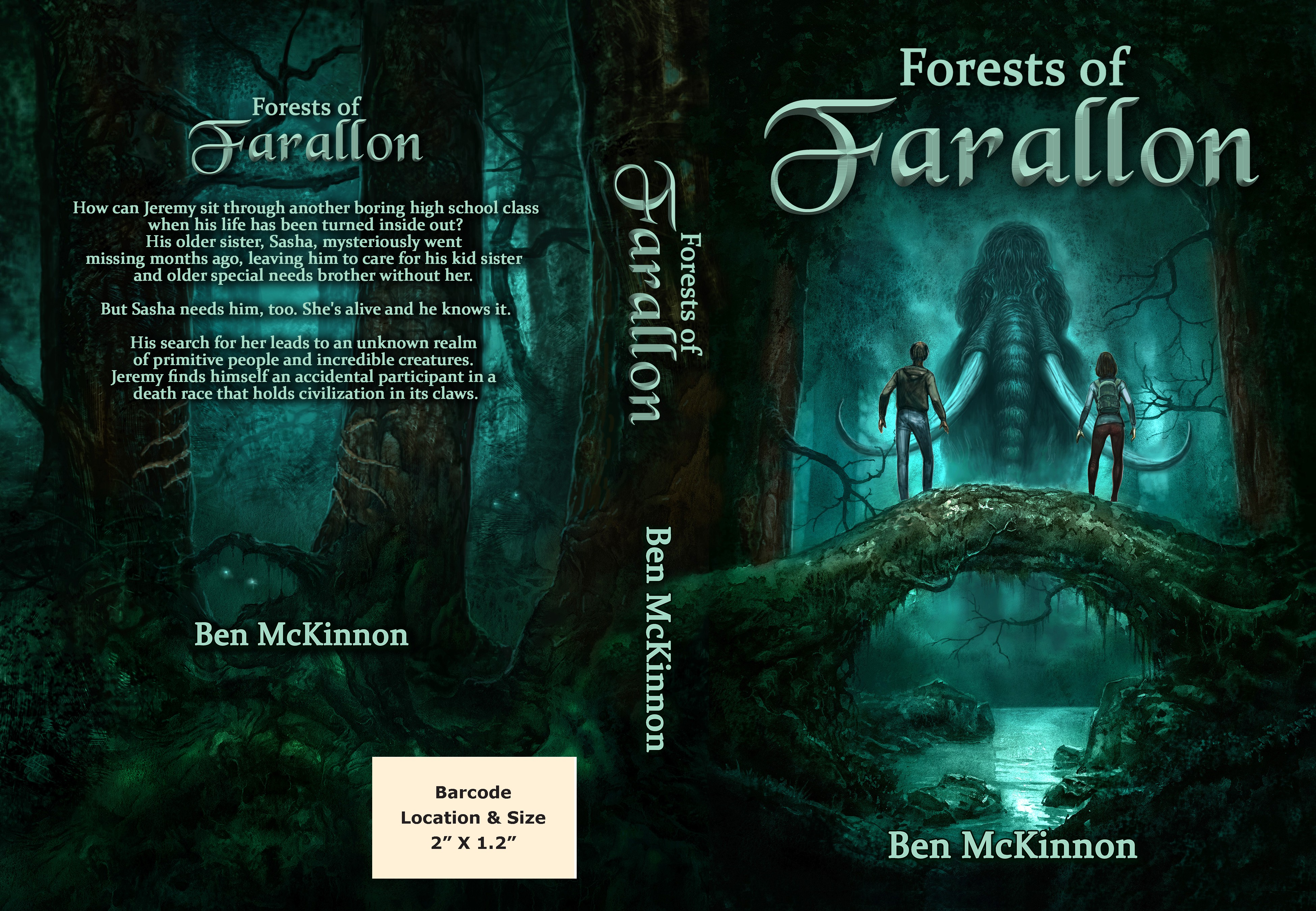 Book cover - Forests of Farallon - Young Adult Fantasy Novel