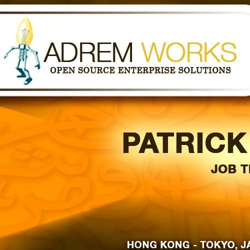 Unique & standout business cards for AdremWorks